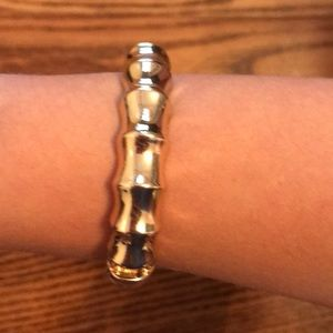 Gold hinge bracelet